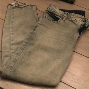 Free people 3/4 jeans